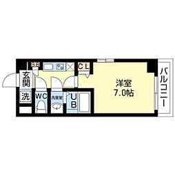 アルヴィータ新大阪[605号室]の間取り