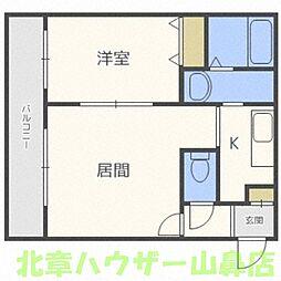 さくら館 南円山[4階]の間取り