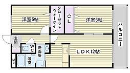 ボヌール鶴見(諸口)[105号室]の間取り