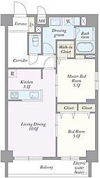 築地MKハウス[0102号室]の間取り