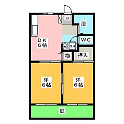 ボーベルハウスII[1階]の間取り