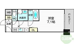 S-RESIDENCE新大阪Luna 4階1Kの間取り