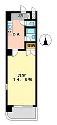 愛知県名古屋市熱田区三本松町の賃貸マンションの間取り