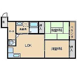 野田シャトルマンション A棟[3階]の間取り