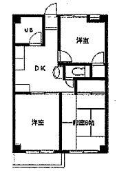 森ヶ丘第三マンション[1階]の間取り