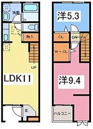 メゾネットクオール[2階]の間取り