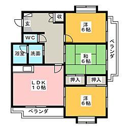 アルカディア[3階]の間取り
