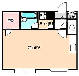 マンション桜[2階]の間取り