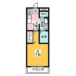 アウルスクエア[2階]の間取り