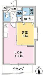 エール19[4階]の間取り