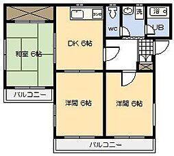 ベルトピア宮崎3[302号室]の間取り