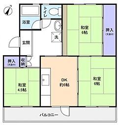 高津団地6街区14棟[3階]の間取り