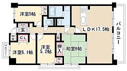 ユーハウス第5喜多山[201号室]の間取り