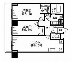 東京メトロ副都心線 雑司が谷駅 徒歩6分の賃貸マンション 3階2LDKの間取り