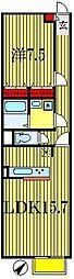 千葉県船橋市芝山3の賃貸アパートの間取り