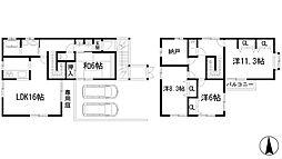 [一戸建] 兵庫県宝塚市野上6丁目 の賃貸【/】の間取り