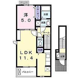 アーバンフォレストIIIA[2階]の間取り
