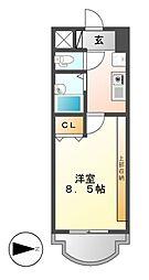 現代ハウス新栄[5階]の間取り