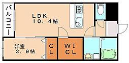福岡県飯塚市有井の賃貸マンションの間取り