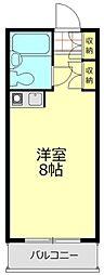 東京都世田谷区弦巻2丁目の賃貸マンションの間取り