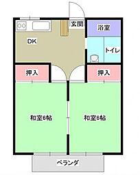 嶋村マンション[301号室号室]の間取り