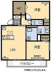 (新築)D-room月見ヶ丘[202号室]の間取り