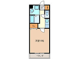 亀山マンションA棟[1階]の間取り