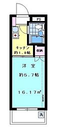 ハイタウン大倉山No.3[4階]の間取り