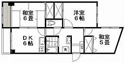 産栄マンション[3階]の間取り