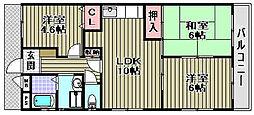 伊勢住宅東羽衣6906[203号室]の間取り