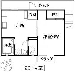 埼玉県春日部市一ノ割1丁目の賃貸アパートの間取り