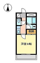 静岡県駿東郡長泉町上土狩の賃貸アパートの間取り