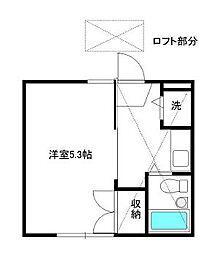 東京都杉並区西荻南2丁目の賃貸アパートの間取り
