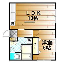 白百合荘[2階]の間取り