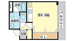 シャトー三和南車崎[403号室]の間取り
