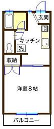神奈川県秦野市幸町の賃貸アパートの間取り
