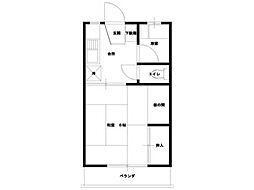 コーポ古川[1階]の間取り