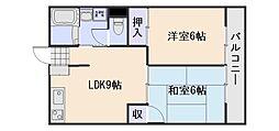 広島県広島市西区庚午北4丁目の賃貸マンションの間取り