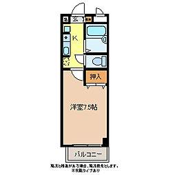 クレセント井原[3階]の間取り