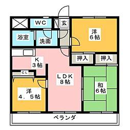 クリアビュー大富士[2階]の間取り