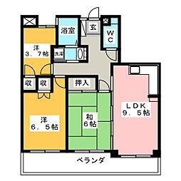 ナビウッディ半田II番館[6階]の間取り