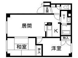 北海道札幌市豊平区月寒西一条6丁目の賃貸マンションの間取り