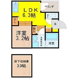 シアヴィータ名古屋[1階]の間取り