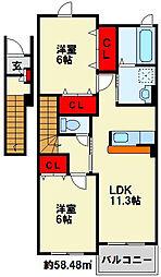 プリムローズFII[2階]の間取り