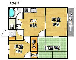 キャッスル泉佐野[2階]の間取り