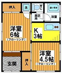 冨永アパート[1階]の間取り