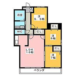 第2名昭ビル[3階]の間取り