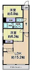 神奈川県川崎市多摩区菅稲田堤3丁目の賃貸マンションの間取り