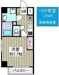 大阪府大阪市大正区三軒家東4丁目の賃貸マンションの間取り