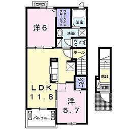 山口県下関市前田1丁目の賃貸アパートの間取り